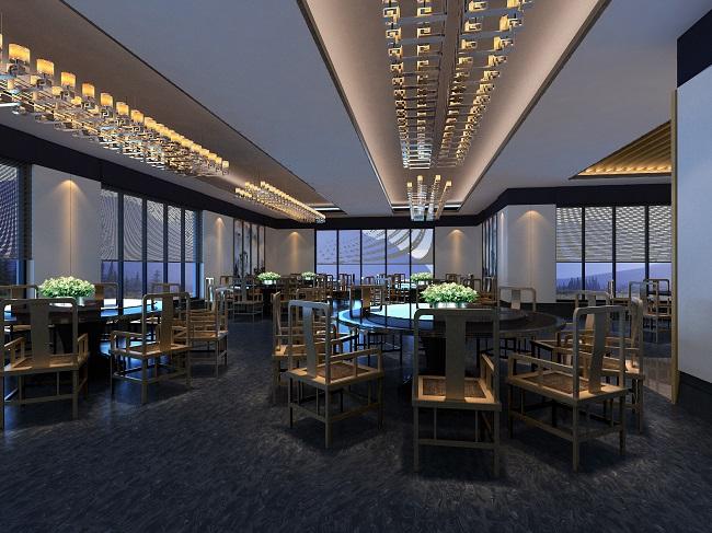 概念中式餐厅装修设计案例 时间:2014.